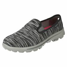 Skechers Patternless Textile Trainers for Women