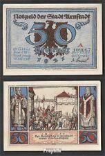 Arnstadt Notgeld: 43.3 a) Notgeld der Stadt Arnstadt, Bst.: A bankfrisch 1921 50