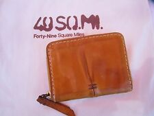 Vintage 49 Square Miles Soft Leather Zip Around Wallet