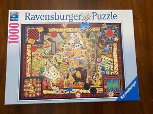 Ravensburger 1000 Piece Puzzle ~ VINTAGE GAMES ~ 19 406 3 ~ Premium Puzzle ~ EUC