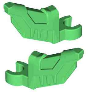 Lego Accessory 2x Bright Green Minifig Wing With Clip Holder Part 11597 6021884