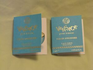 Versace 'Dylan Turquoise' For Women Pour Femme Perfume 2x Spray Vials NEW