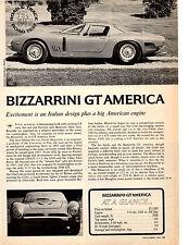 1966-1967 BIZZARRINI GT AMERICA 327/400HP  ~  5-PAGE ROAD TEST / ARTICLE / AD