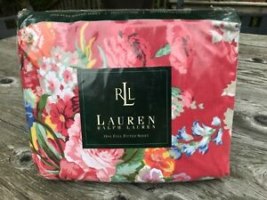 NIP NEW Ralph Lauren Red Beach House Floral Double FULL FITTED Deep Pocket Sheet