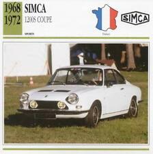 1968-1972 SIMCA 1200S Coupe Sports Classic Car Photo/Info Maxi Card