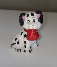 """Vintage Dalmatian Puppy Dog With Red Heart In His Mouth - 2 1/4"""""""
