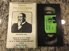 MARTIN THE EMANCIPATOR RARE VHS! NOT DVD INTERVIEWS w/FRIENDS LUTHER KING MLK!