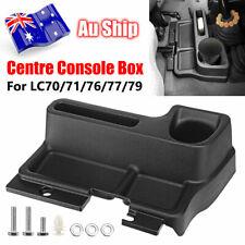 Black Centre Console Storage Box For Toyota Landcruiser LC70 71 76 79 Series
