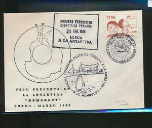 LN21381 Peru 1988 Antarctic mail first expedition cover used