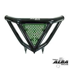 TRX 450R 400EX Intimidator  Front Bumper BLK & Green Screens  Alba Racing N3 BG