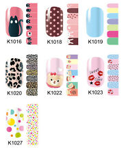 Polish Nail Art Decals Foils Fashion Adhesive Wraps Manicure Stickers K1016