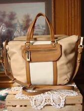 NWT SANCTUARY HERO BUTTERY SOFT TAN, NUDE & IVORY LEATHER SATCHEL CROSSBODY~$228