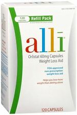 alli Orlistat 60mg 120 Capsules FDA Approved Weight Loss Aid