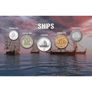 Authentic Genuine Collectable Coins Ship Collection Featuring 5 Different Ships