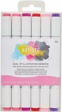 Docrafts Artiste Dual Tip Illustration Floral Markers 6pk - 851405