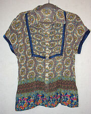 ny collection Cap Sleeve Button Front Blouse Size XL