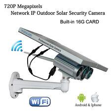 Outdoor solar security 720P IP WiFi wireless Net Surveillance Camera 16G Wanscam