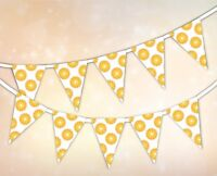 Summer Collection - Orange Pattern - Bunting Banner 15 flags by PARTY DECOR