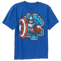 Marvel Captain America Boys T-Shirt Top Size L-10-12  NWT