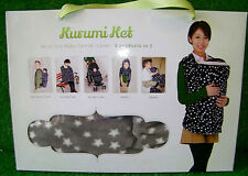 Kurumi Ket 5 in1 Baby Carrier Cover/ Stroller Cover/Nursing Cover/Pram Blanket