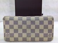 Auth Louis Vuitton Zippy Wallet Damier Azur Zip-Around Long Wallet 5G071380#