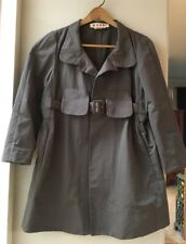 MARNI Womens 46/ 10 US Belted Taupe Coat Made Italy