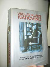 Former Czech Republic President Vaclav Klaus Narovinu Signed Book/ Napkin-2007
