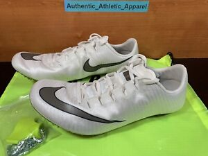 Nike Zoom Superfly Elite Mens Size 13 White Gray Track & Field Spikes 835996-001