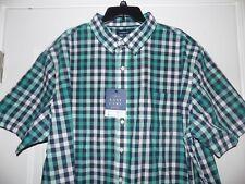 CROFT & BARROW EASY CARE  Mens Men's Short Sleeve XXL 2XL Shirt NEW WITH TAGS