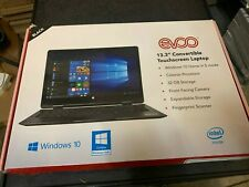 "OB Evoo 13.3"" Convertible Touchscreen EV-L2in1-133-2-BK Intel N400 4GB 32GB"