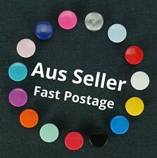 400 Sets 20 Different Colours KAM T5 Plastic Snaps Fastener Buttons Stud Set
