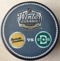 2020 NHL WINTER CLASSIC DUELING TEAM PUCK NASHVILLE PREDATORS VS. DALLAS STARS