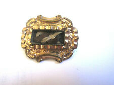 Victorian Plaited Hair Mourning Brooch Pin