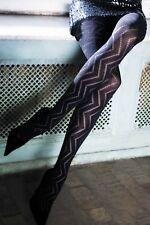 Topsy 70 Den Zig Zag 3d Patterned Opaque Tights/pantyhose Alexa S