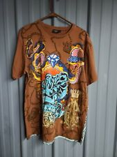 Ed Hardy Designs by Christian Audigier Men's  M T-Shirt Brown