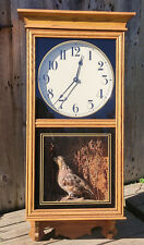 Grouse Taxidermy Wall Cabinet Clock Tochigi Quartz Battery Operated Movement
