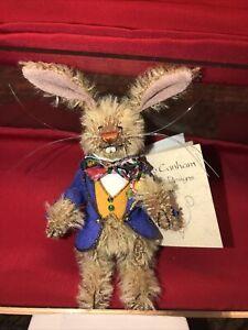 DEB CANHAM Mohair Minature Marsh Hare Rabbit in Box  Ltd. Ed. Retired #685/2,500
