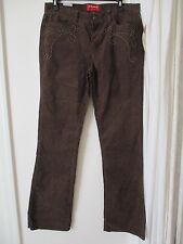 Women's Chaps Denim Brown pants New corduroy Studs western cowgirl rancher 6