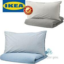 IKEA BLAVINDA Duvet Cover and Pillowcase(s) Light Blue Gray Full/Queen