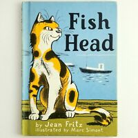 Fish Head by Jean Fritz Vintage Children's Hardcover Book 1972 Illustrated Cats