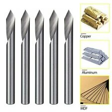 5pcs 60 Degree 18 Shank Solid Carbide Engraving Bits Cnc Router Tool V Groove