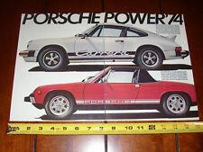 1974 Porsche Power 914 - 911 Carrera - Original 2 Page Ad