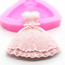 Women Wedding Dress Skirt Fondant Mold Silicone Cake Decorating Embossing moulds