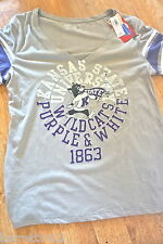 new KANSAS STATE WILDCATS V-neck size L Graphic S/S T-shirt (Orig. $ 22.50)