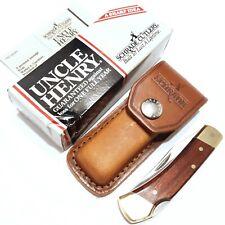 SCHRADE KNIFE MADE IN USA #LB5 UNCLE HENRY SMOKEY LOCKBACK SHEATH VINTAGE POCKET