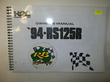 HRC-RS125 (1994) Owners/Parts Manual