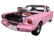 1965 SHELBY MUSTANG GT 350R PINK W/RACING ENGINE 1/18 SHELBY COLLECTIBLES SC176