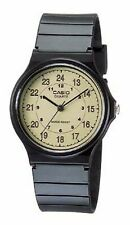 Casio Classic Men's Quartz Analog Beige Dial Black Resin Band 35mm Watch MQ24-9