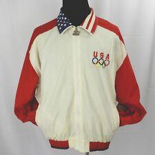 Starter Jacket Windbreaker XL USA Olympics Gymnastics Spell Out Vintage 1990s
