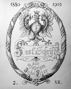 KEGEL-Gesellschaft Hanauer Hof Frankfurt FESTSCHRIFT 25 Jubelfeier 1905 SEHR RAR